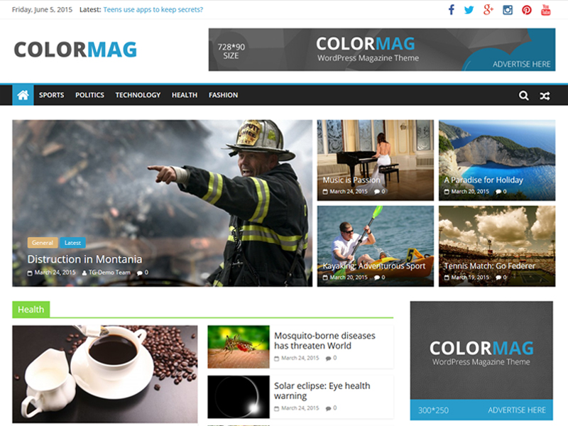 ColorMag is a perfect responsive magazine style WordPress theme.