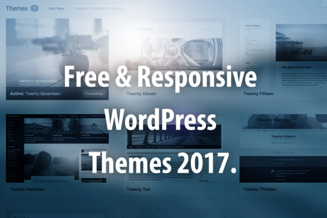 Free Responsive WordPress Themes 2017